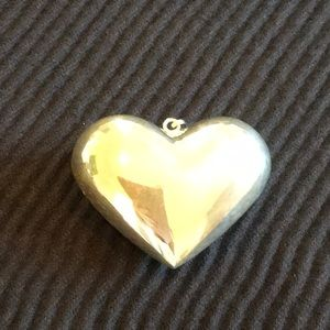 Sterling Silver 925 Puffy Heart Big Pendant